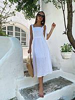 Платье миди Маргарита женское летнее кружевное из прошвы Smfl4483