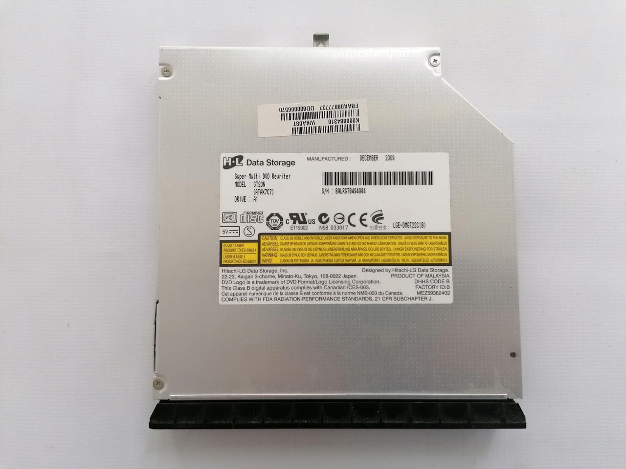 Б/У Оптический привод DVD±RW Hitachi LG GT20N от Toshiba Satellite L500