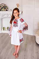 Вишита дитяча сукня машинної вишивки, фото 1