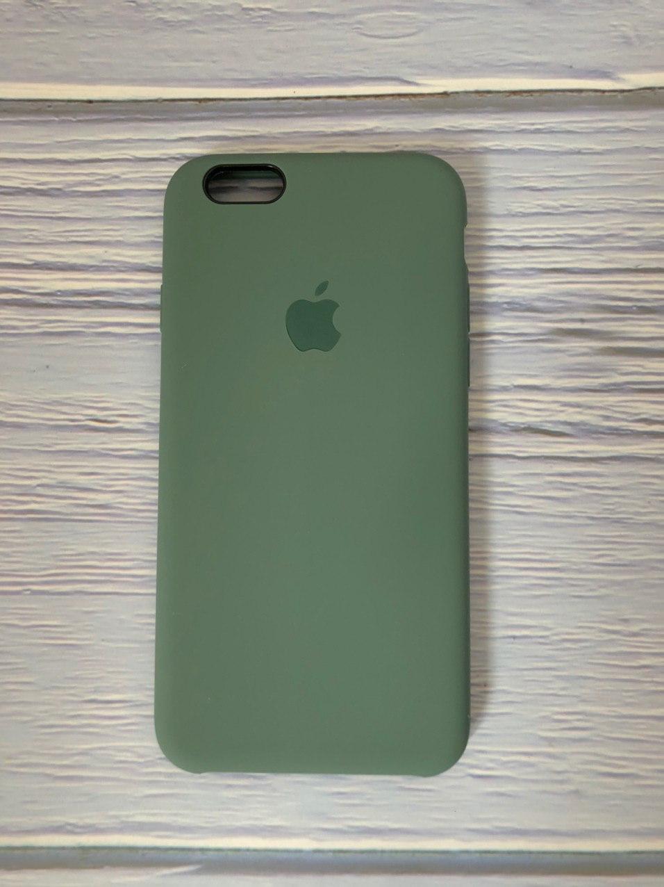 "Чехол Silicon iPhone 6 - ""Pine green №58"""