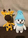 Вязаная игрушка ручной работы Жираф, фото 5
