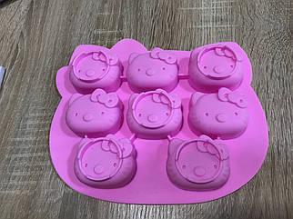 Форма силиконовая  для конфет Hello Kitty 8 штук
