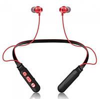 Беспроводные Bluetooth наушники MHZ Sport Wireless M8, черно-красные
