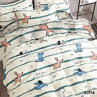Постельное белье ТМ Вилюта ранфорс полуторное подростковое 20114 собачки