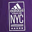 """Футболка спортивная фиолетовый ADIDAS с принтом """"NYC""""  PUR L(Р) 19-900-020, фото 3"""