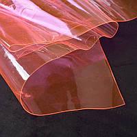 Силикон (0,3мм) розовый светлый неон прозрачный ш.122 (22018.025)