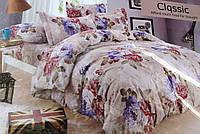 Байковый комплект постельного белья Байка ( фланель)  Букеты