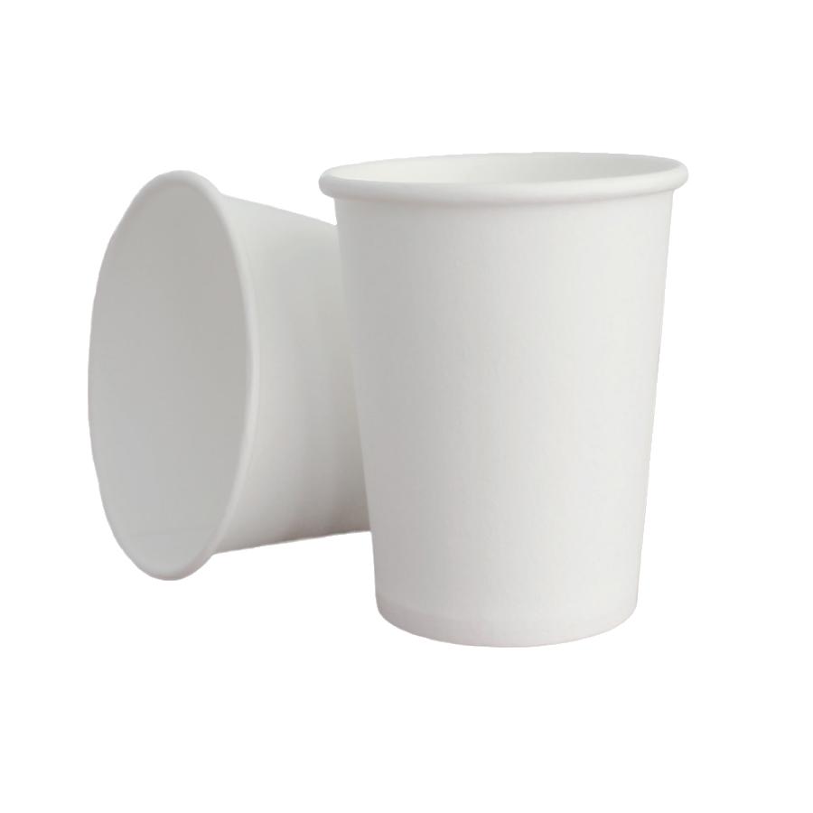 Бумажный стакан белый однослойный 250 мл 50 шт.