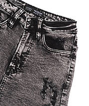 Шорты женские джинсовые рваные черные, фото 3