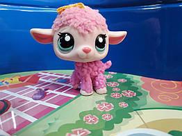 Lps littlest pet shop стоячки - лпс lamb Hasbro старая коллекция- ягненок розовый