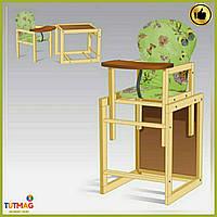 """Детский стульчик для кормлениябольшой салатовый """"Бабочки"""" ТМ """"МАСЯ"""""""