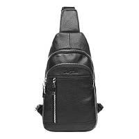 Рюкзак кожаный мужской Vito Torelli 6037 черного цвета