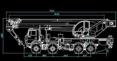 Автокран КЛИНЦЫ КС-65719-1К-1 на шасси КАМАЗ-6540, фото 2