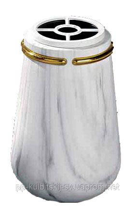 Декор для памятника ваза біла Lorenzi 909 \32