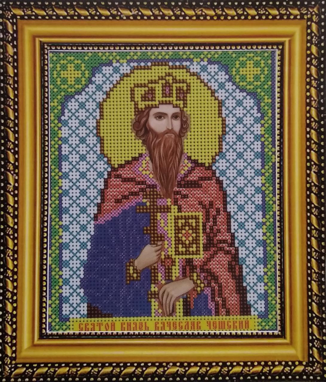 Набор для вышивки бисером ArtWork икона Святой Князь Вячеслав Чешский VIA 5082