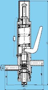 Клапан защитно-предохранительный импульсный пружинный
