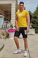 Костюм футболка с шортами желтый