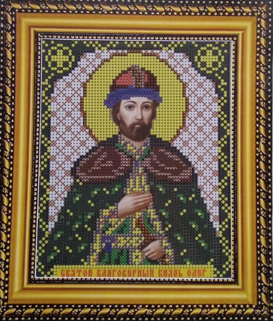 Набор для вышивки бисером ArtWork икона Святой Благоверный Князь Олег VIA 5083