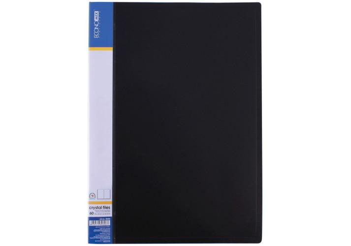 Папка А4 Economix  на 60 файлов ассорти(E30606)