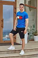 Костюм футболка с шортами Томми индиго с графитом