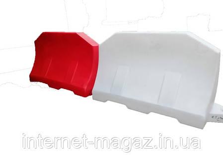 Дорожный барьер водоналивной пластиковый белый 1.2 (м), фото 2