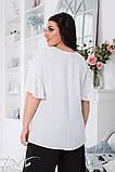 Летний костюм блузка и штаны ткань жатка софт размер 50-52,54-56,58-60, фото 3