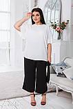Летний костюм блузка и штаны ткань жатка софт размер 50-52,54-56,58-60, фото 2