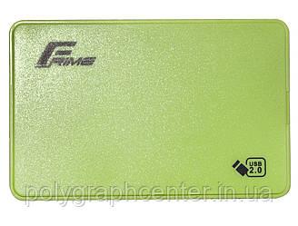 "Внешний карман Frime SATA HDD/SSD 2.5"", USB 2.0, Plastic, Green (FHE14.25U20)"