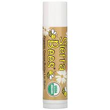 """Органический бальзам для губ Sierra Bees """"Cocoa Butter Lip Balm"""" шоколадный (4.25 г)"""