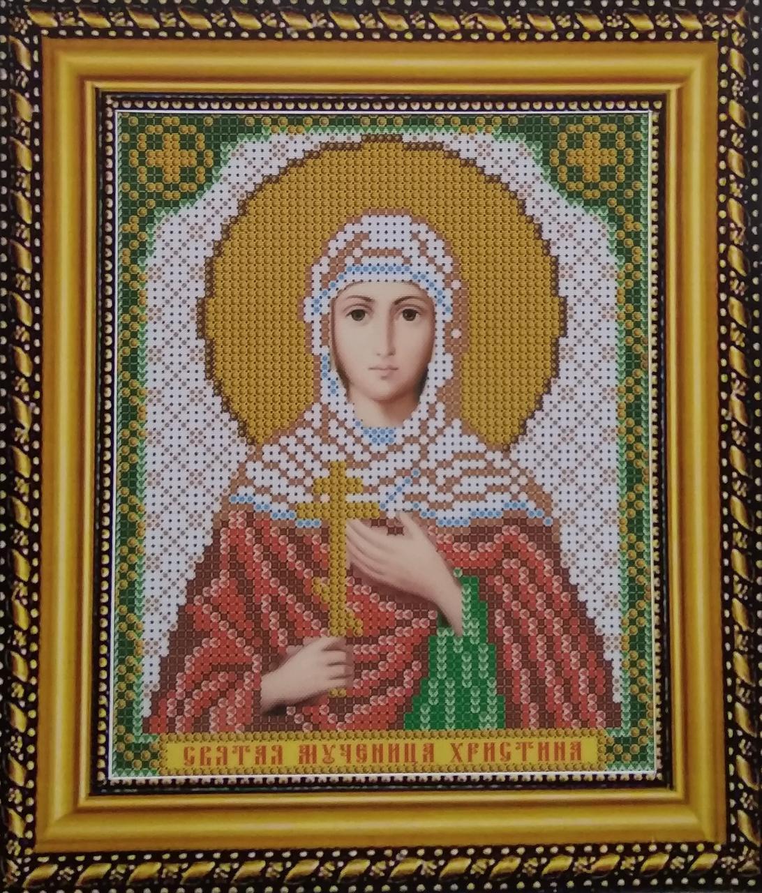 Набір для вишивання бісером ікона Свята Мучениця Христина VIA 5095