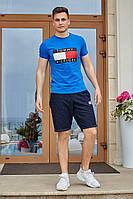 Костюм футболка с шортами Томми индиго с синим