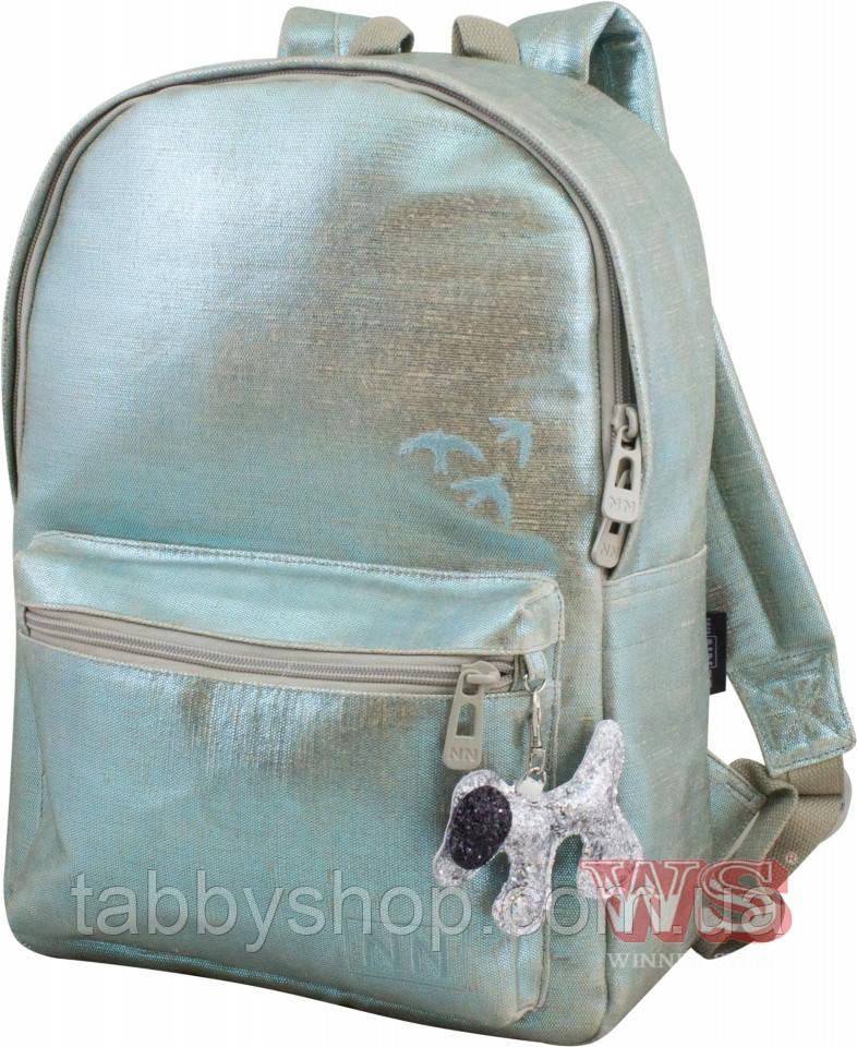 Рюкзак подростковый для девочки Winner Stile 256 голубой металлик