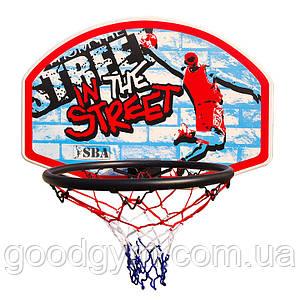 Баскетбольный щит SBA S881RB детский 66x46 см