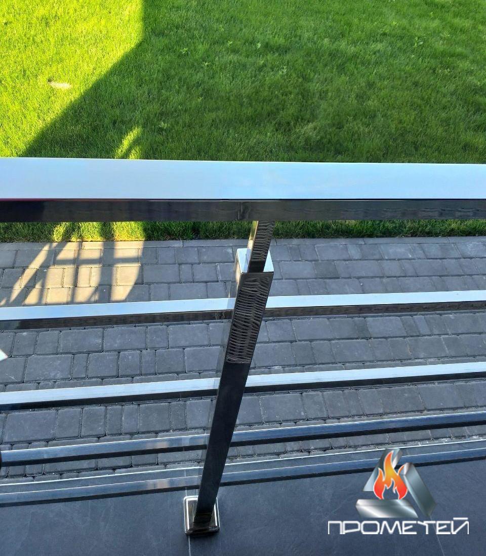 Ограждения для балконов из нержавеющей стали с горизонтальным наполнением