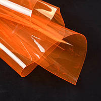 Силикон (0,3мм) оранжевый неон прозрачный ш.122 (22018.015)