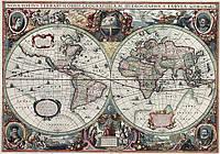 Старинная карта 100см х 142см (ткань, подрамник)