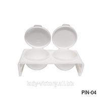 Двойная посуда с крышкой для жидкости (мономера). PIN-04