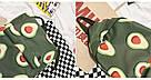 Водонепроницаемый рюкзак для подростка с принтом авокадо цвета хаки Lequeen, фото 4