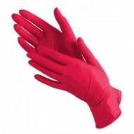 Перчатки нитриловые без пудры Medicom RED красные размер M 100 шт