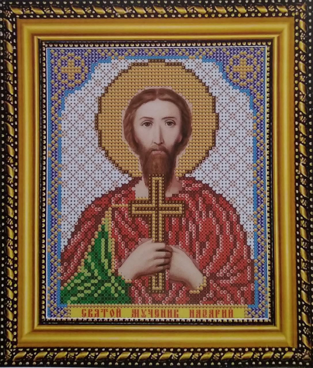 Набор для вышивки бисером ArtWork икона святой Мученик Назарий VIA 5109