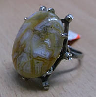"""Кольцо с золотистым агатом """"Кассандра"""", размер 17,9 от Студии LadyStyle.Biz"""