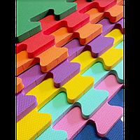 КОВРИКИ ПАЗЛЫ МЯГКИЕ НА ПОЛ, цветные, арт EVA 119. размер 50-50 см.