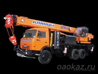 НОВИНКА: автокран «КЛИНЦЫ» КС-55713-1К-1 на базе КАМАЗ-65115 работающий на метане