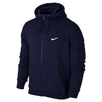 Толстовка Nike, Найк в стиле, синяя на молнии