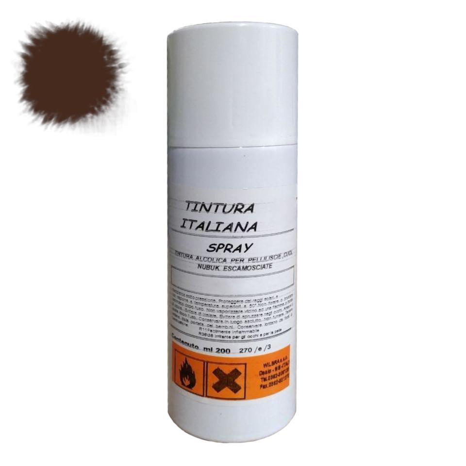 ✅ Коричневая краска для кожи в баллончике MAVI STEP Renovator Leather Spray, 200 мл