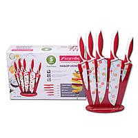 Набор ножей Kamille 6 предметов с антипригарным покрытием