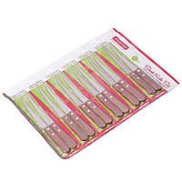 Набор ножей Kamille 12 предметов из нержавеющей стали с деревянными ручками KM-5304, фото 1
