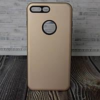 Силиконовый бампер для IPhone 7 8 золотой