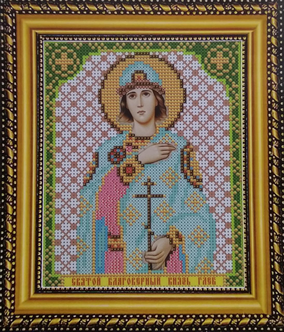 Набор для вышивки бисером ArtWork икона Святой Благоверный Князь Глеб VIA 5143