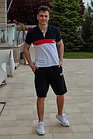 Футболка с шортами черный верх